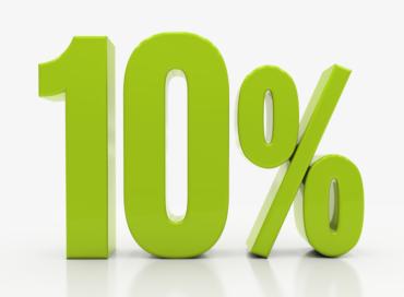 10% Na pierwszy rok